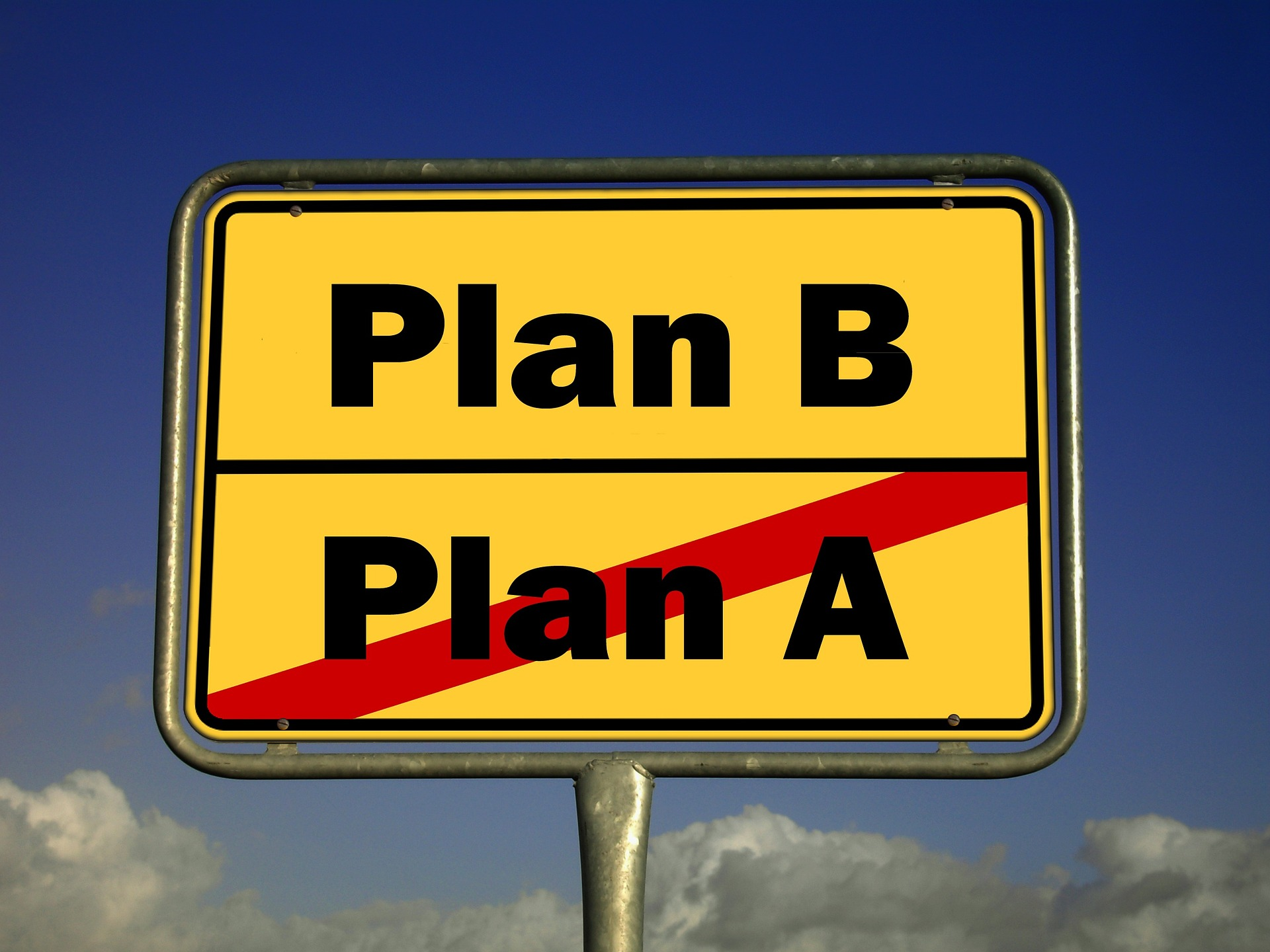 Have an action plan as well as a backup plan ready